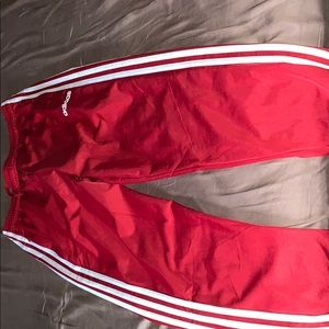 Adidas red track pant